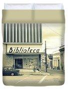Biblioteca Cubana Duvet Cover