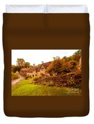 Bibury Almhouses Duvet Cover