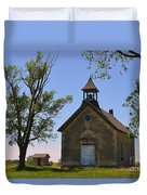 Bichet School In Marion County In Kansas Duvet Cover