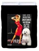 Bichon Frise Art - Una Parigina Movie Poster Duvet Cover
