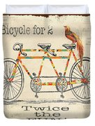 Bicycle For 2 Duvet Cover