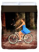 Bicycle Girl 1c Duvet Cover