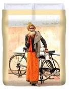 Bicycle Man Duvet Cover