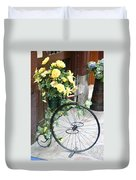 Bicycle Plant Holder Duvet Cover
