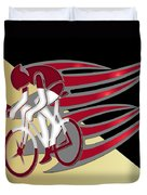 Bicycle Rider 01 Duvet Cover