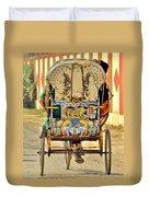 Bicycle Rikshaw - Kumbhla Mela - Allahabad India 2013 Duvet Cover