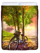 Bicycle Under The Tree Duvet Cover