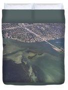 Bidr's Eye View Of Beautiful Miami Beachfront Duvet Cover