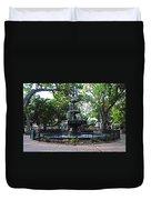 Bienville Fountain Mobile Alabama Duvet Cover
