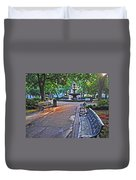 Bienville Square And The Bench 2 Duvet Cover