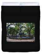 Bienville Square Fountain Closeup Duvet Cover