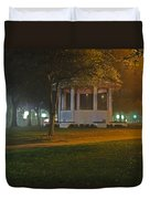 Bienville Square Grandstand In A Foggy Mist Duvet Cover