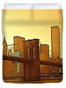 New York City - Big Apple Sunrise Duvet Cover