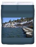Big Bear Dam - California Duvet Cover