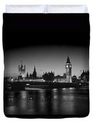 Big Ben And The Houses Of Parliament  Bw Duvet Cover