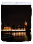 Big Ben And The Houses Of Parliment On The Thames Duvet Cover