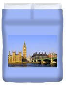 Big Ben And Westminster Bridge Duvet Cover