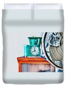 Big Ben Moon Beam Duvet Cover by Bob Orsillo