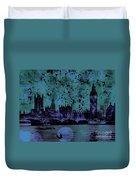 Big Ben On The River Thames Duvet Cover