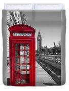 Big Ben Red Telephone Box Duvet Cover