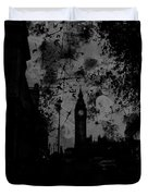 Big Ben Street Black And White Duvet Cover