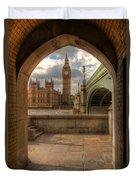 Big Ben Through The Arch Duvet Cover