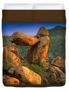 Big Bend Window Rock Duvet Cover