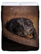 Big Black Toad Duvet Cover