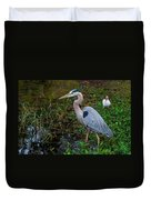 Big Blue And The Ibis Duvet Cover