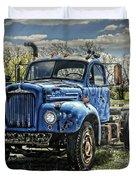 Big Blue Mack Duvet Cover