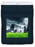 Big City And Green Fresh Meadow Duvet Cover