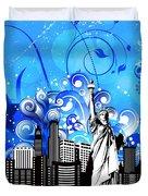 Big City Blues 4 Liberty Duvet Cover