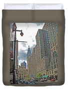 Big City Streets Duvet Cover