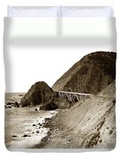 Big Creek Bridge Double Arched Concrete Bridge On Highway 1. About 40 Miles South Of Monterey  1935 Duvet Cover