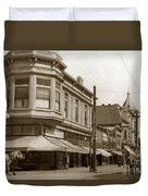 Big Curio Store Santa Cruz At 28 Pacific Avenue On The Corner Of Lincoln And Pacific. 1908 Duvet Cover