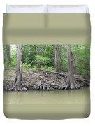 Big Cypress River Trees Duvet Cover