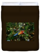 Big Glider Macaw Digital Art Duvet Cover
