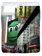 Big Green M And M Duvet Cover