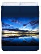 Big Lake After Sunset Duvet Cover
