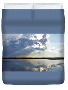 Big Marsh Sunset Duvet Cover
