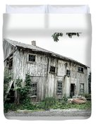 Big Old Barn - Rustic - Agricultural Buildings Duvet Cover by Gary Heller