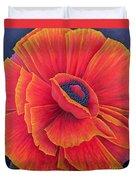 Big Poppy Duvet Cover by Ruth Addinall