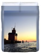 Big Red At Sunset Duvet Cover by Michelle Calkins