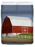 Big Red Barn In West Michigan Duvet Cover
