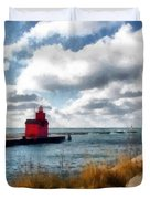 Big Red Big Wind Duvet Cover