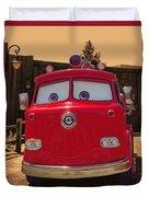 Big Red Carsland Duvet Cover