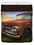 Big Red Ford Duvet Cover