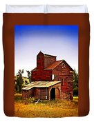Big Red Grain Elevator Duvet Cover