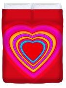 Big Red Love Duvet Cover