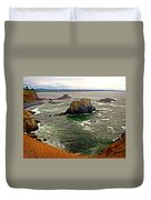 Big Rock Beach Duvet Cover